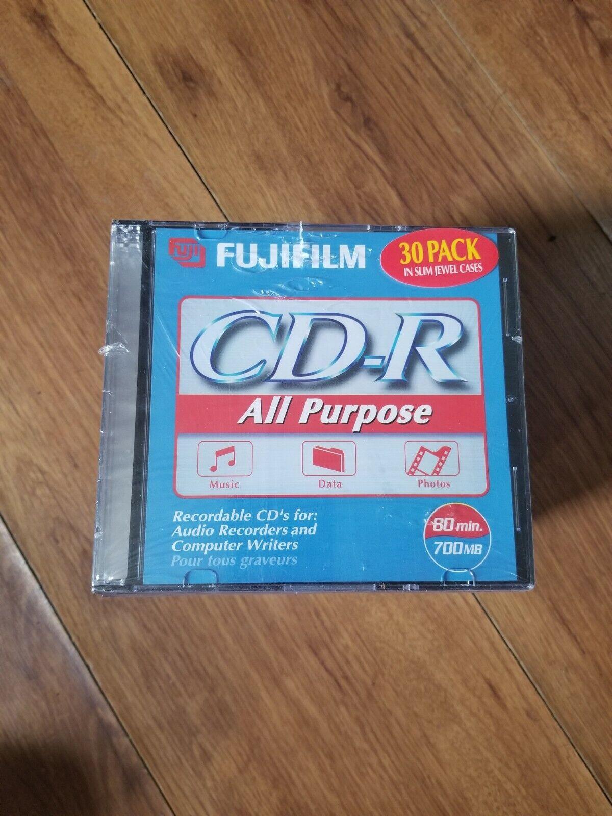 Fujifilm 30 Pack CD-R Slim Jewel Cases All Purpose 700MB 80 Min Data Music Photo