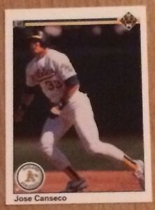 Details About 1990 Upper Deck Jose Canseco Baseball Card 66 Oakland Athletics