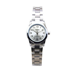 e76b463f Details about Casio Women's Analog Quartz Water Resistant Stainless Steel  Watch LTPV001D-7B