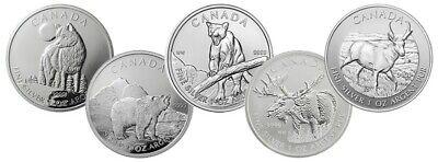 2011 Canada 1 oz Silver Wildlife Series Wolf Abrasions, Spots SKU106