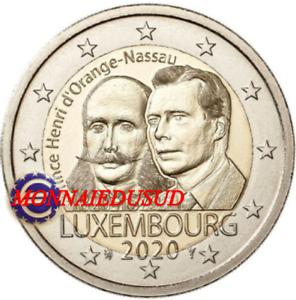 2-Euro-Commemorative-Luxembourg-2020-Prince-Henri-UNC-NEUVE