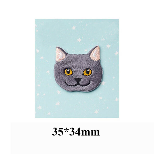 Embroidery Cat Baby's Clothing Patch Backpack Decor Small Applique Iron On Patch