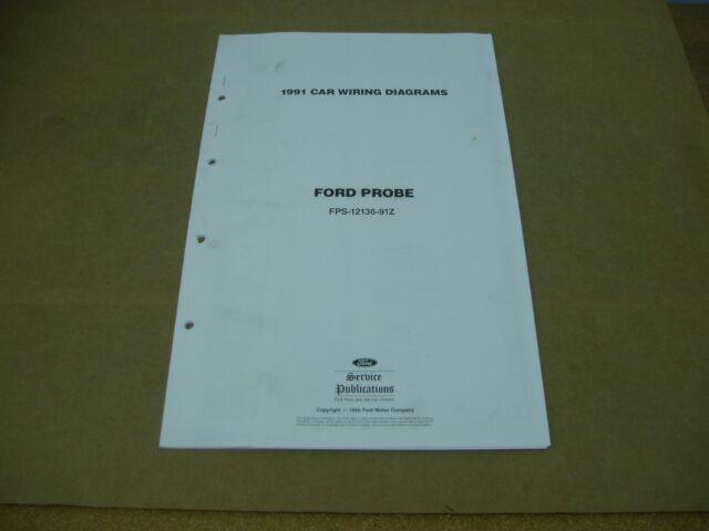 1991 Ford Probe Wiring Diagram Schematics Sheet Service
