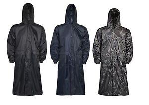 Para-Hombre-Impermeable-con-Capucha-Abrigo-Largo-Ligero-Lluvia-Al-Aire-Libre
