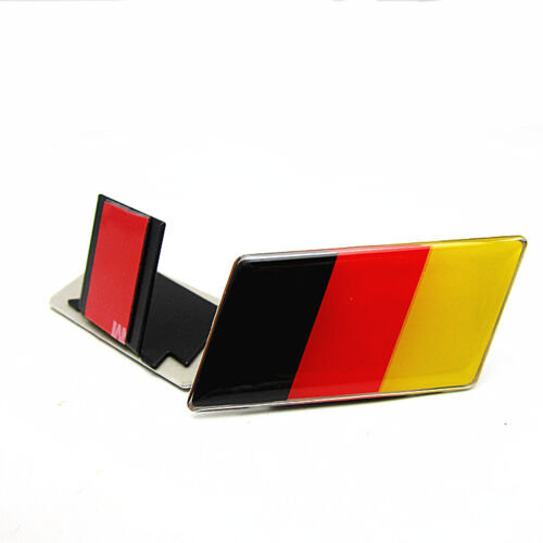 Germany Flag Grille Grill Emblem Badge Decal Sticker Fit For BMW Audi Trendy