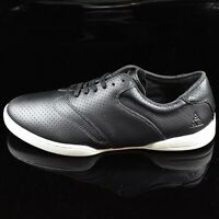 Huf Men's Dylan Perforated Leather Skate Shoes Black Size 13