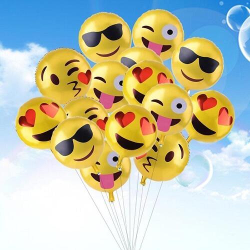 New 1//4//24Pcs Multi Pattern Emoji Foil Balloon Wedding Birthday Party Decor DQUK
