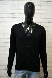 Maglione-Cardigan-Nero-Uomo-RALPH-LAUREN-Taglia-XL-Pullover-Lana-Sweater-Man
