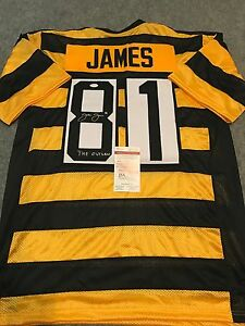 best website dac53 e2531 Details about JESSE JAMES AUTOGRAPHED SIGNED INSCRIBED PITTSBURGH STEELERS  JERSEY JSA COA