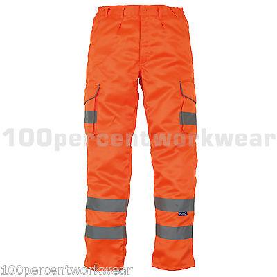 Gut Yoko Hv018t Orange High Visibility Hi Vis Viz Cargo Combat Work Trousers Go Rt Kunden Zuerst