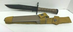 SCHRADE EXTREME SURVIVAL Knife SCHF6 Deep Grooved TPR Bayonet (DISCONTINUED) NEW