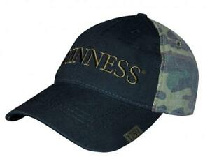 Guinness-Washed-Camouflage-Print-Baseball-Cap-Irish-Ireland-Adjustable-Hat-New