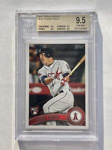 2011 Topps Update Mike Trout Rookie BGS 9.5 TRUE GEM MINT RC Angels