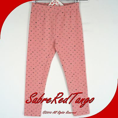 NWT HANNA ANDERSSON LIVABLE LEGGINGS CITY PINK HEARTS 140 10
