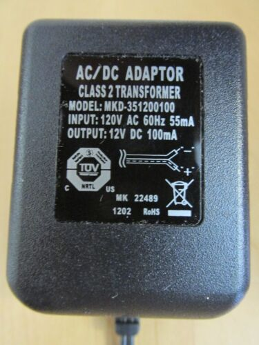 RESOLUTION MKD-351200100 SECURITY SYSTEM AC/DC ADAPTER/TRANSFORMER RE012 *NEW*