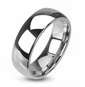 Fiable Mens Traditional Wedding Band Ring Stainless Steel 8mm Classic Engagement Bridal