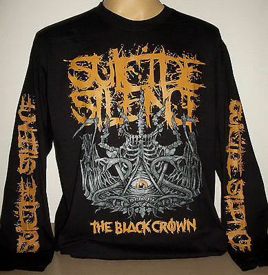 Suicide Silence Black Crown long sleeve T-Shirt Sze S 2XL 3XL On Sale! Deathcore