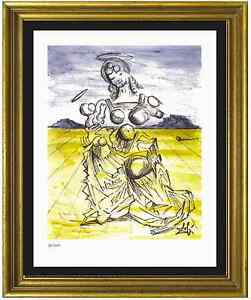 Salvador-Dali-Signed-Hand-Numbrd-Ltd-Ed-034-Mother-amp-Child-034-Litho-Print-unframed