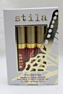 Stila-Stay-All-Day-Liquid-Lipstick-in-Kiss-Me-Stila-Set-3-Shades-New-in-Box