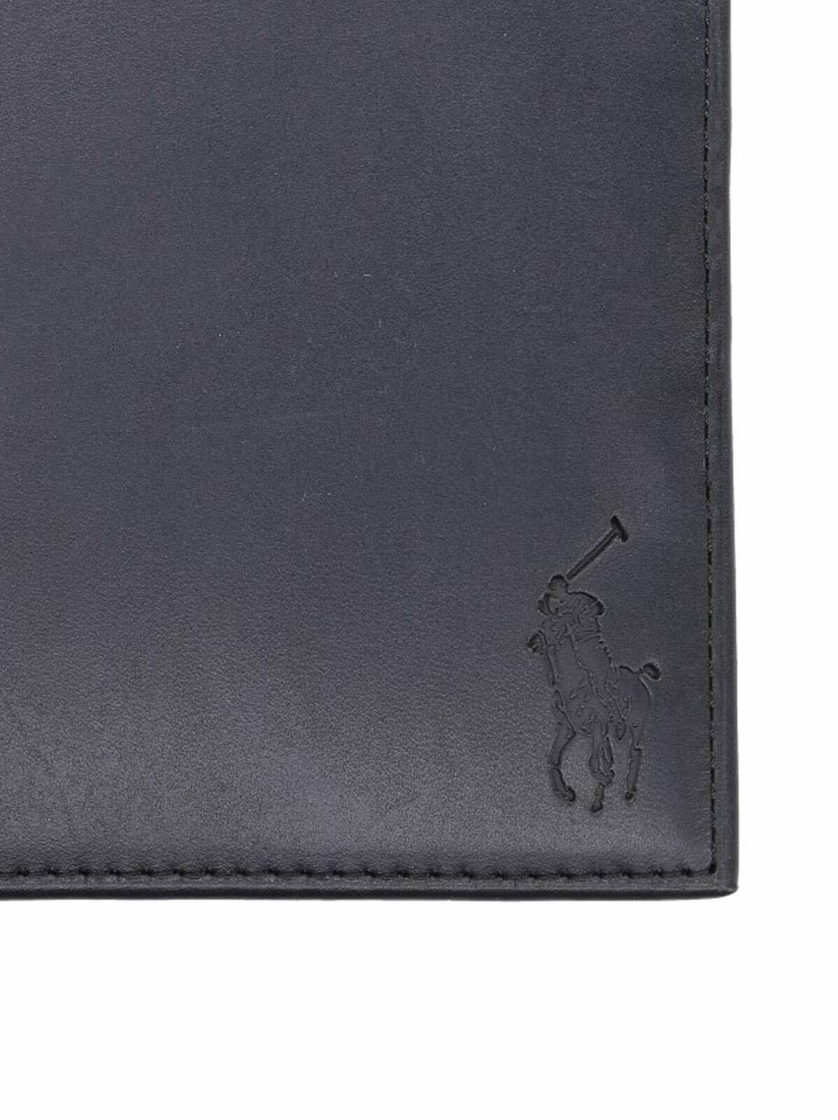 Polo Ralph Lauren Smooth Leather Billfold Wallet, Black BNWT (RRP )