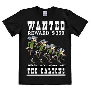 LOGOSHIRT-Comics-Cowboy-Wilder-Westen-Lucky-Luke-Daltons-Wanted-T-Shirt