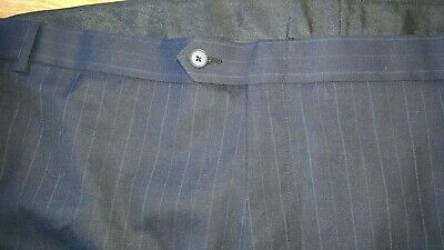 Austin Reed Big Tall 72x38 New Worsted Wool Blue Pinstripe Pants Slacks Gift For Sale Online