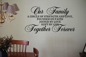 Our Family Circle Of Strength Love Faith Together Forever Wall Decal