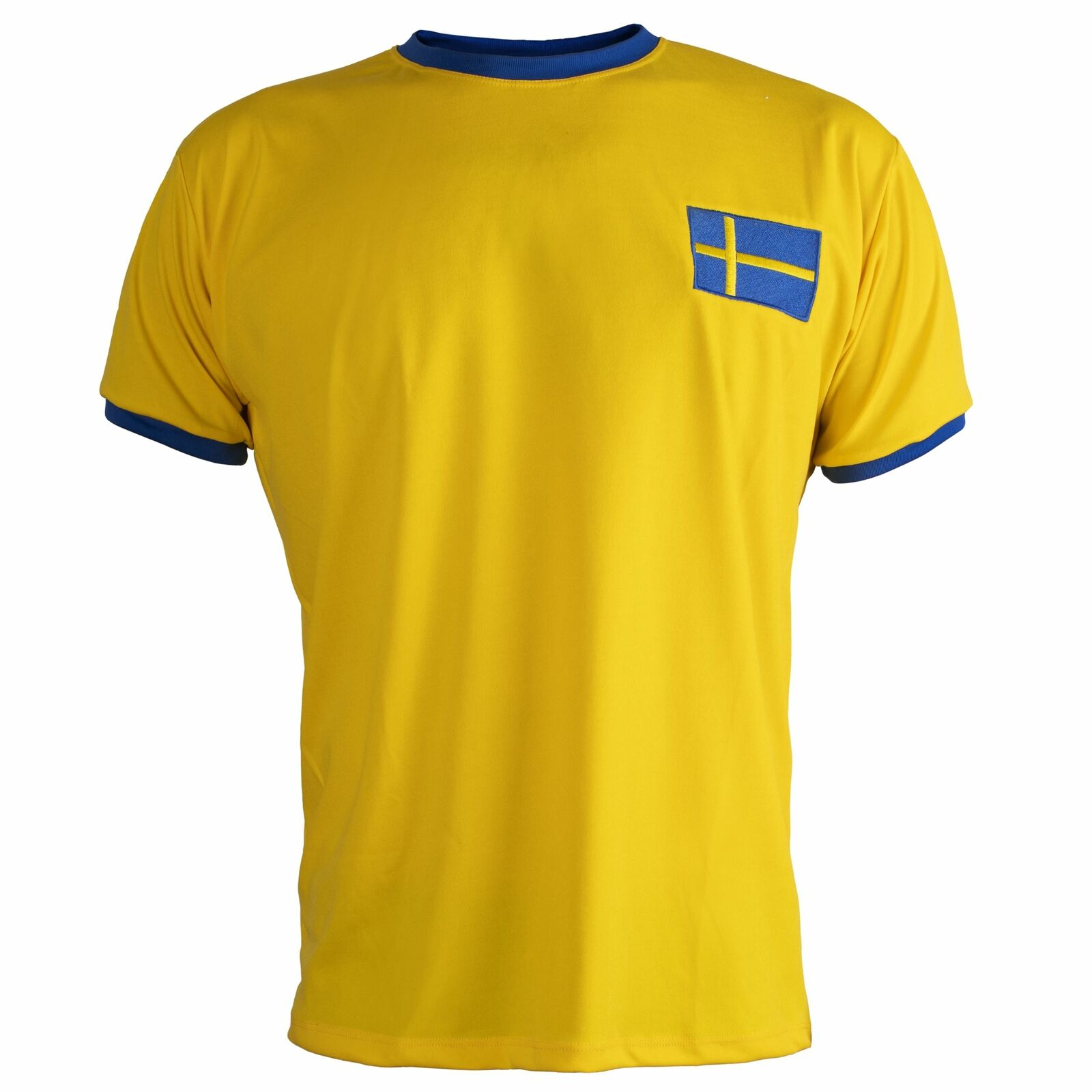 Schweden   Sverige Hemd Hemd Hemd Retro Fußball Kurzärmelig Herren Top b8937a