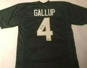 on sale 4d10e 6b48a Michael Gallup Autographed Colorado State Green Jersey ...