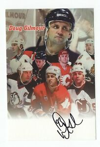 DOUG-GILMOUR-SIGNED-AUTOGRAPH-4X6-OVERSIZED-POST-CARD-LEAFS-BLUES-FLAMES-PROOF