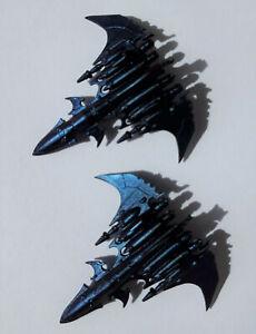 Epic 40k 2x Voidraven Drukhari Bomber Dark Eldar 6mm Games Workshop