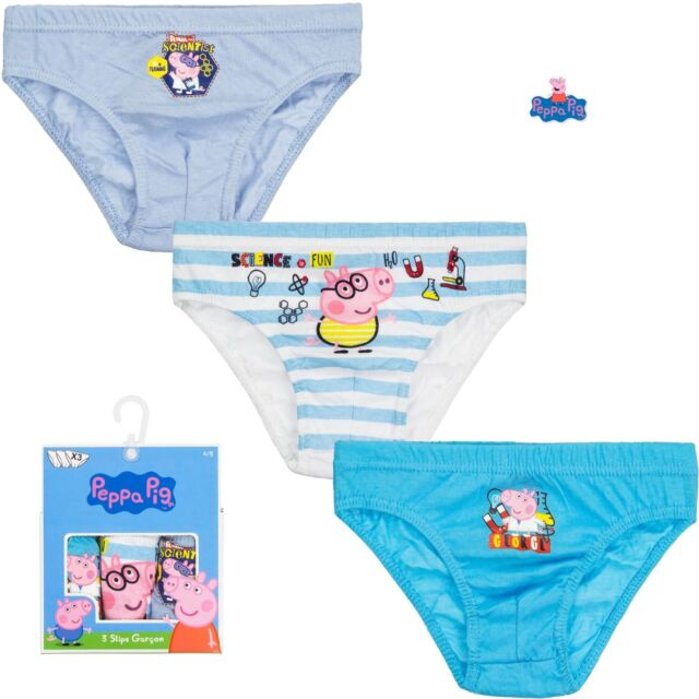 fa99d59b4bf86 Official Peppa Pig Boys Briefs 3 Pack George Pig Slips Pants Cotton 2-8 Year