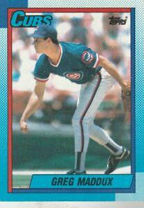 FREE-SHIPPING-MINT-1990-Topps-715-Greg-Maddux-Cubs-PLUS-BONUS-CARDS