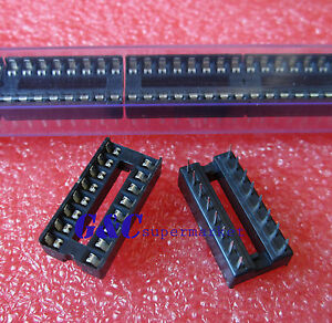 50PCS 16-Pin 16pins DIL DIP IC Socket PCB Mount Connector NEW GOOD QUALITY