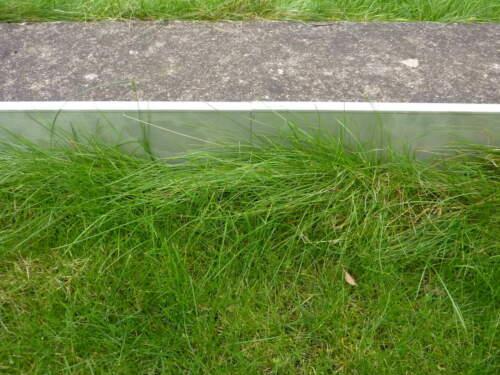 2,5 m Edelstahl Rasenkante Falz Kiesleiste Beeteinfassung 160 bis 250mm rostfrei