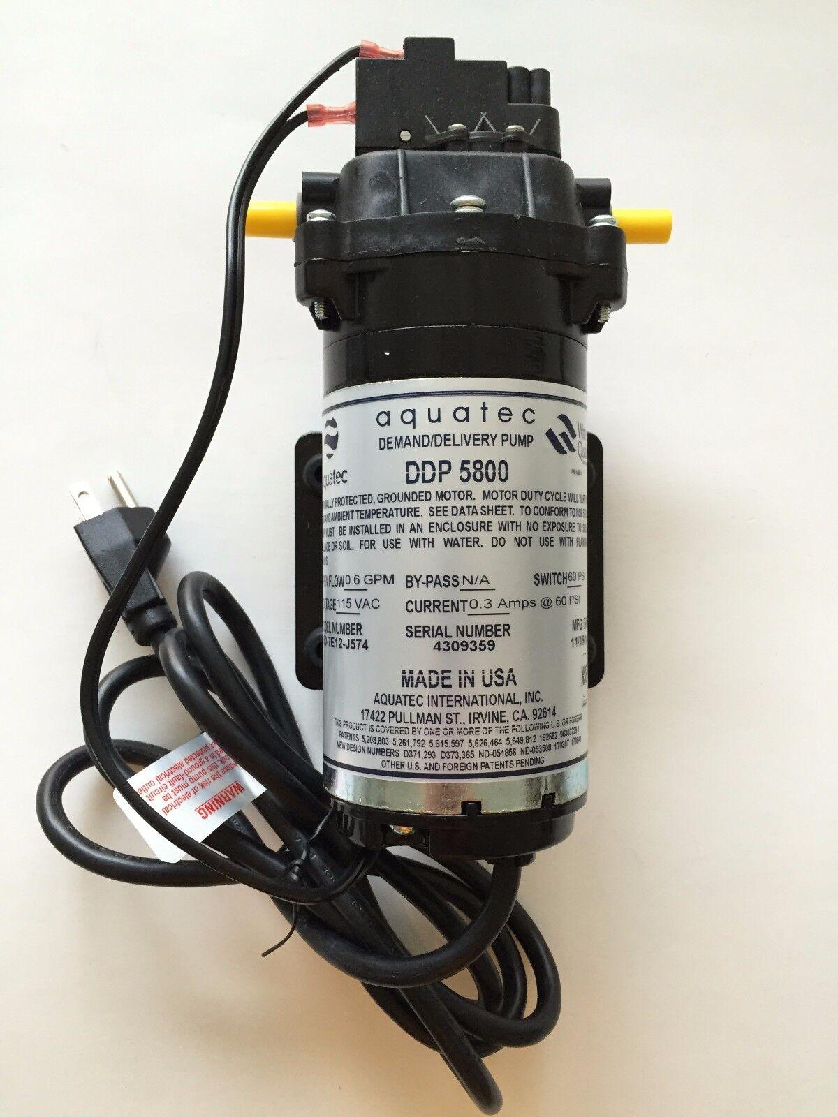 AQUATEC DDP 5850 SERIES Osmose Inverse pompe distributrice 115VAC 5850-7E12-J574