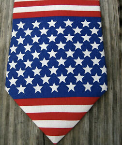 American Flag Necktie Classic USA Colors Patriotic Red White /& Blue With Eagle