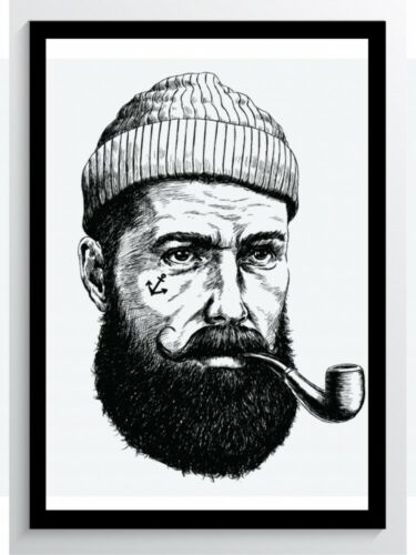 Tattoo Sailor Whistle Art Print Poster-ungerahmt Picture DIN A4 A3 K0784
