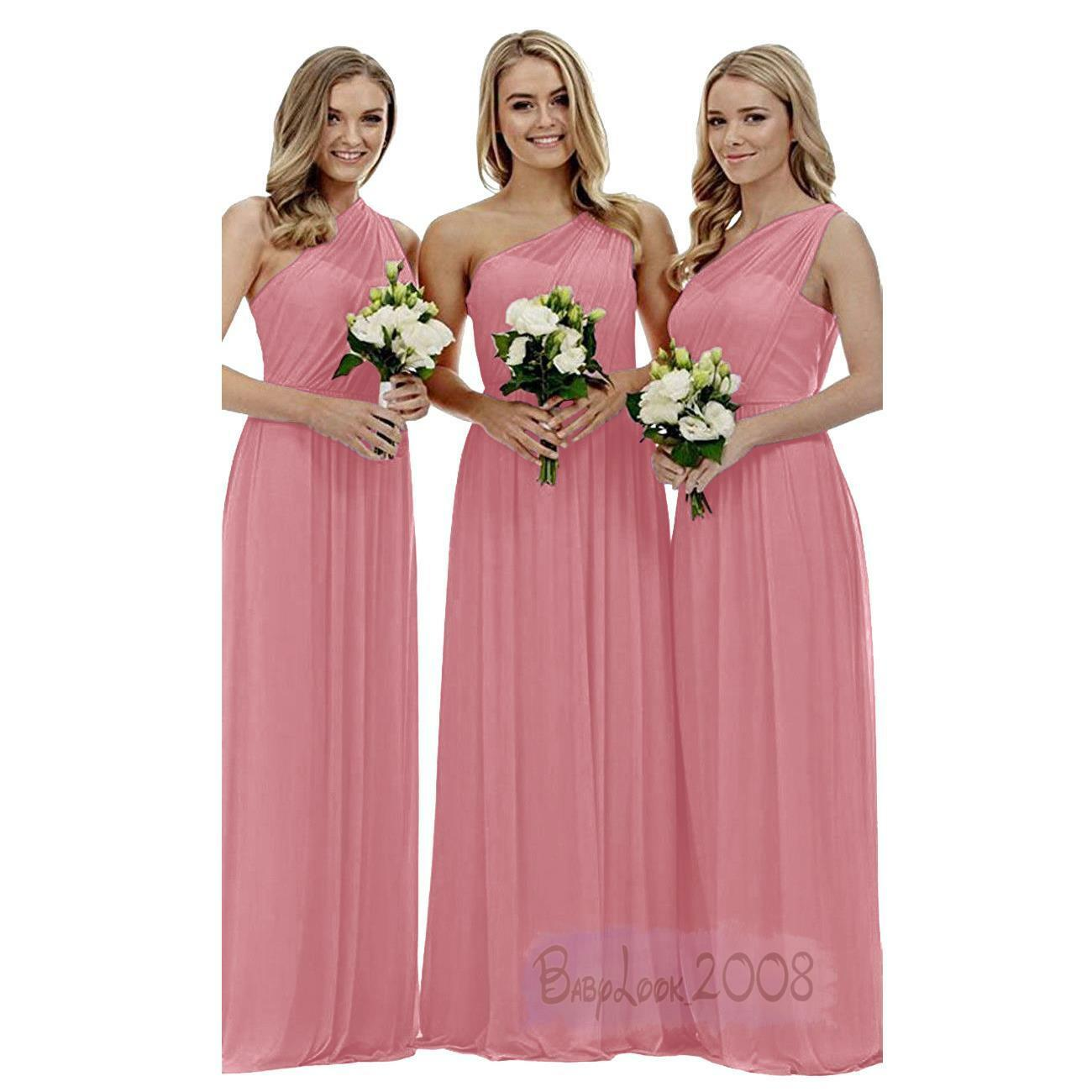 Long Long Long One Shoulder Dress Formal Party Bridesmaid Evening Ball Gown Prom Dresses 647c65