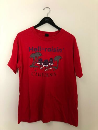California Raisin Men's Tee Hell-Raisin' Red Size