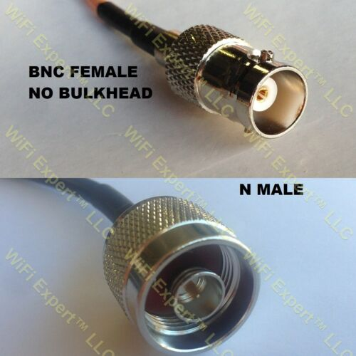 USA-CA RG316 DS BNC FEMALE to N MALE Coaxial RF Pigtail Cable