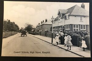 Postcard, Councils schools, High Street, Knaphill, Surrey