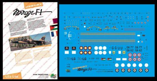 "Decals 1//72 /""Desert Mirage F1/"" FFSMC Productions"