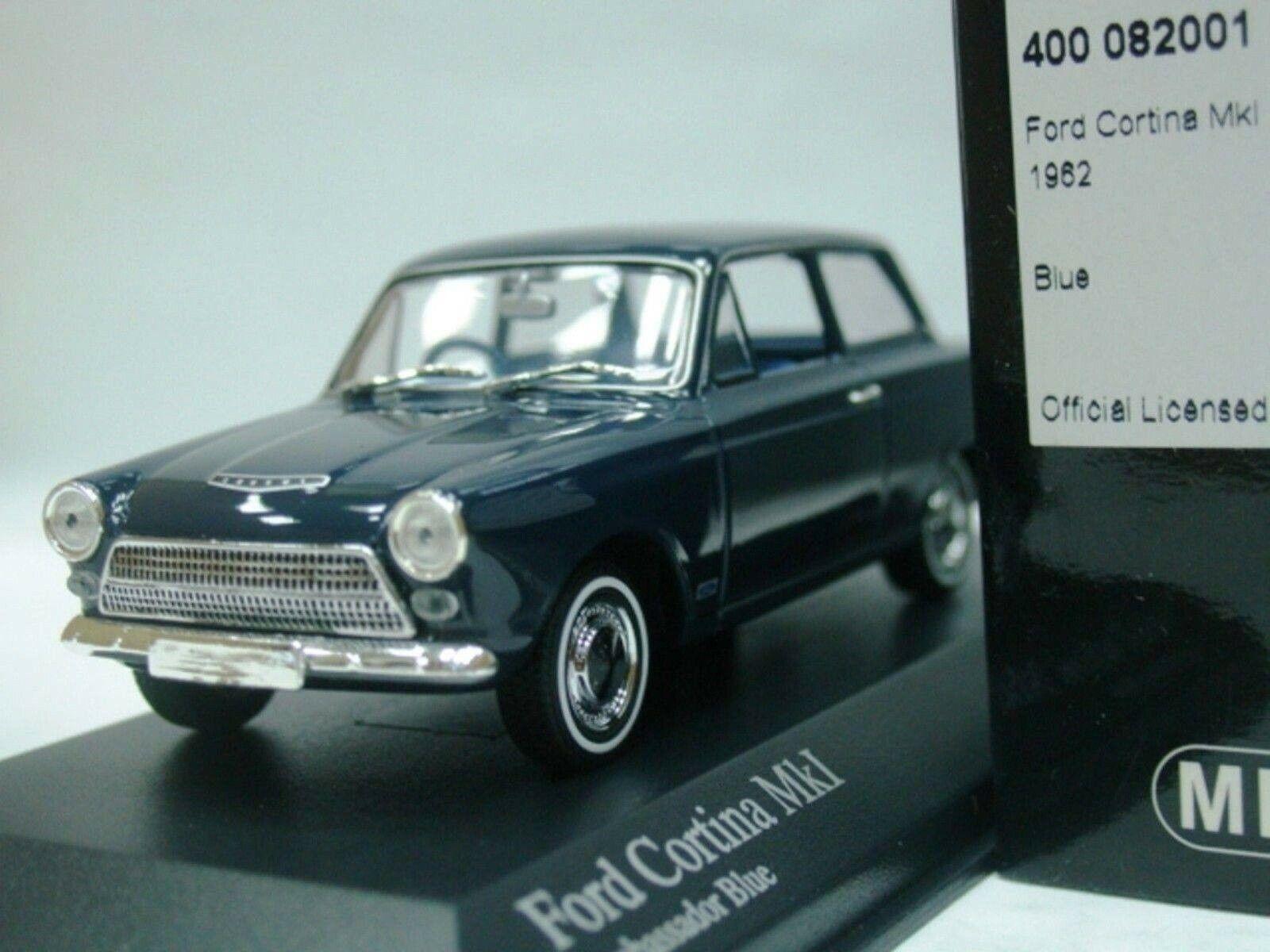 Wow extremadonnate raro Ford Cortina Mki 1962 Rhd blu Oscuro 1 43 Minichamps-gt Lotus