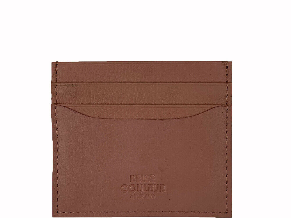 Luca - Peony Pink Leather Card Wallet