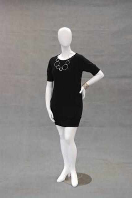 Female Plus Size Egg Head Mannequin Dress Form Display Md Nancyw3