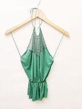 Katayone Adeli XS Ladies Green Halter Top