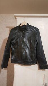 SCHOTT Perfecto Blouson Femme Cuir Noir LCW-Paddy Taille S / M ou 36 / 38