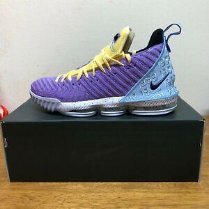 Details about NEW MENS Nike LeBron James 16 XVI Lakers Heritage Champions PURPLE CK4765-500