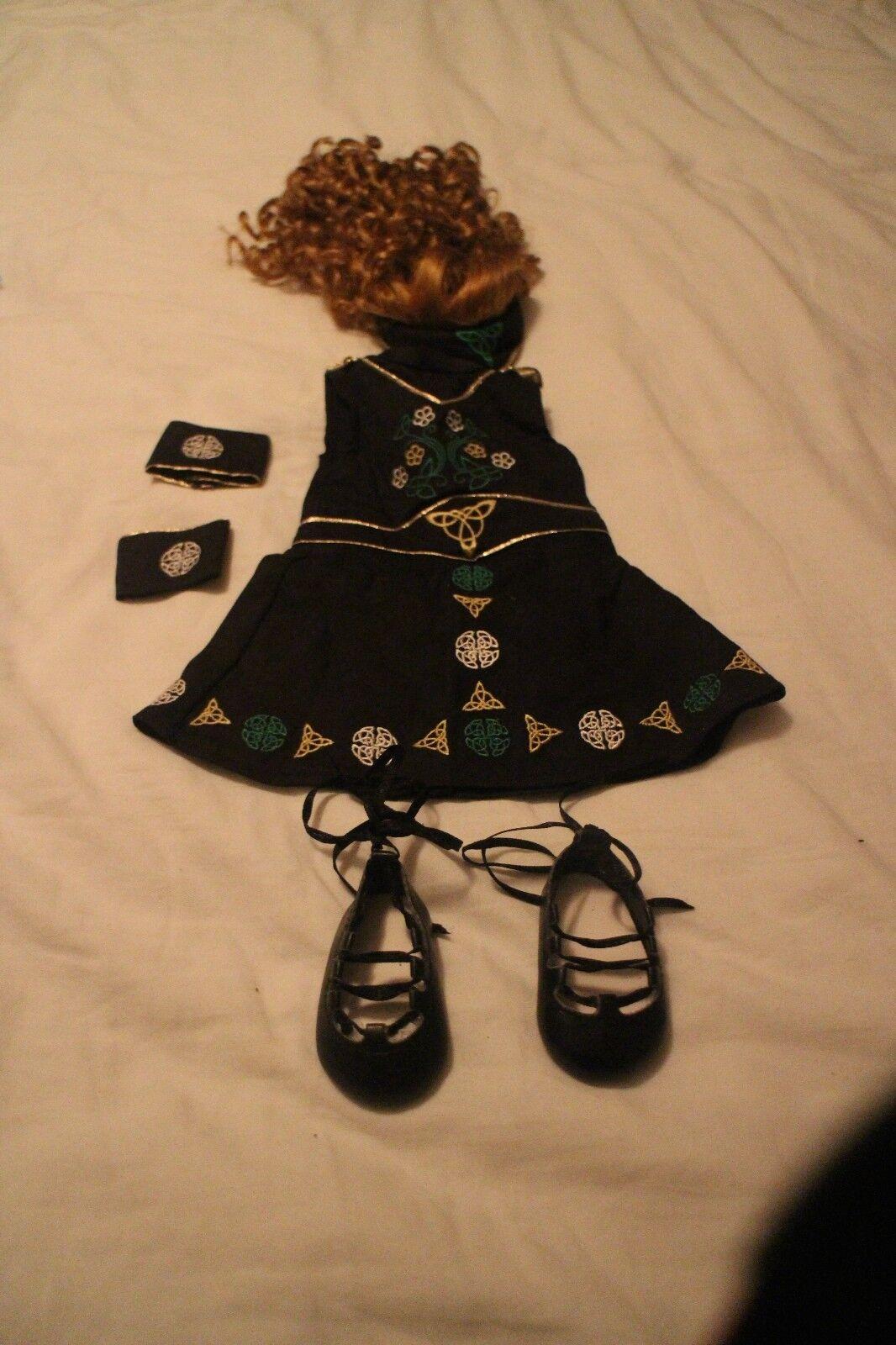 American Girl Girl Girl Doll Irlandés Baile Traje de Disfraz  tienda de venta